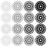 Στρογγυλές γεωμετρικές διακοσμήσεις καθορισμένες Στοκ φωτογραφία με δικαίωμα ελεύθερης χρήσης