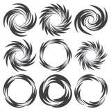 Στρογγυλές δερματοστιξίες με μορφή στροβίλου Στοκ εικόνα με δικαίωμα ελεύθερης χρήσης