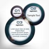 Στρογγυλές πληροφορίες γραφικές διανυσματική απεικόνιση