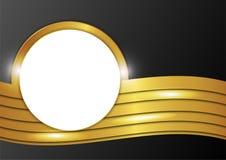 Στρογγυλές σημειώσεις εγγράφου για το χρυσό υπόβαθρο Στοκ εικόνες με δικαίωμα ελεύθερης χρήσης