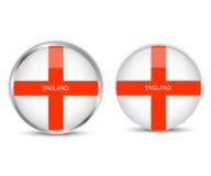 Στρογγυλή εθνική σημαία κουμπιών της Αγγλίας Στοκ εικόνα με δικαίωμα ελεύθερης χρήσης