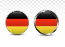 Στρογγυλή εθνική σημαία κουμπιών της Γερμανίας Στοκ φωτογραφίες με δικαίωμα ελεύθερης χρήσης
