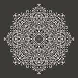 Στρογγυλή διακόσμηση δαντελλών mandala kaleidoscopic Στοκ Φωτογραφίες