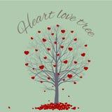 Στρογγυλή καρδιά δέντρων Στοκ εικόνα με δικαίωμα ελεύθερης χρήσης
