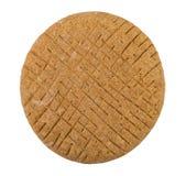 Στρογγυλή σίκαλη flatbread που απομονώνεται στο άσπρο υπόβαθρο στοκ εικόνα