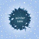 Στρογγυλή χειμερινή πώληση ρωγμών πάγου ελεύθερη απεικόνιση δικαιώματος