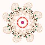 Στρογγυλή floral διακόσμηση με τα μικρά μούρα Στοκ φωτογραφίες με δικαίωμα ελεύθερης χρήσης