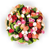 Στρογγυλή floral διανυσματική σύνθεση Στοκ φωτογραφία με δικαίωμα ελεύθερης χρήσης
