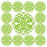 Στρογγυλή Floral ταπετσαρία σχεδίων στοιχείων Στοκ Φωτογραφίες