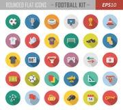 Στρογγυλευμένα επίπεδα αθλητικά εικονίδια διανυσματική απεικόνιση