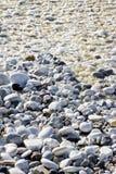 Στρογγυλευμένα και ομαλά χαλίκια υγρά από το νερό της θάλασσας Στοκ Εικόνες