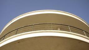 Στρογγυλευμένα κτήριο κιγκλιδώματα deco τέχνης de Λα Warr Στοκ Εικόνες