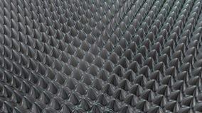 Στρογγυλευμένη μέταλλο τρισδιάστατη απόδοση υποβάθρου ακίδων Στοκ Φωτογραφία
