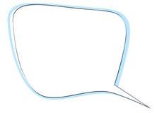 Στρογγυλευμένη ορθογώνιο λεκτική φυσαλίδα γωνιών για το διάλογο η ανασκόπηση απομόνωσε το λευκό Στοκ Εικόνες
