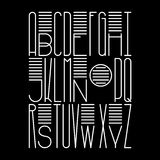 Στρογγυλευμένη ψηλή διακοσμητική πηγή Διανυσματικό λατινικό αλφάβητο για τις αφίσες ελεύθερη απεικόνιση δικαιώματος