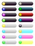 Στρογγυλευμένο πρότυπο κουμπιών Ιστού Στοκ εικόνες με δικαίωμα ελεύθερης χρήσης