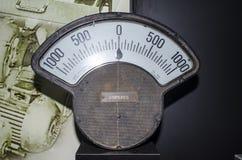 Στρογγυλός αναλογικός μετρητής αμπέρ στοκ φωτογραφίες