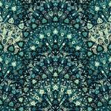 Στρογγυλό άνευ ραφής σχέδιο mandala Αραβικά, ινδικά, ισλαμικός, Οθωμανός Στοκ Εικόνες