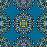 Στρογγυλό άνευ ραφής σχέδιο mandala Αραβική, ινδική, ισλαμική, οθωμανική διακόσμηση Στοκ Φωτογραφία