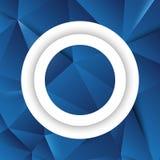 Στρογγυλό άσπρο πλαίσιο πέρα από το γεωμετρικό τριγωνικό πολύγωνο Στοκ Φωτογραφία