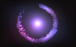 Στρογγυλό λαμπρό υπόβαθρο πλαισίων Μαγική ανασκόπηση φω'των Στοκ Φωτογραφία