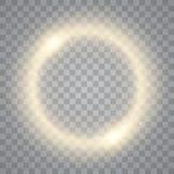 Στρογγυλό λαμπρό υπόβαθρο πλαισίων με τα φω'τα Αφηρημένο ελαφρύ δαχτυλίδι πολυτέλειας διάνυσμα ελεύθερη απεικόνιση δικαιώματος