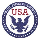 Στρογγυλό γραμματόσημο Πολιτεία της Αμερικής ΗΠΑ Στοκ Φωτογραφία
