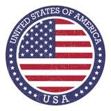 Στρογγυλό γραμματόσημο Πολιτεία της Αμερικής ΗΠΑ Στοκ φωτογραφία με δικαίωμα ελεύθερης χρήσης