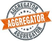 Στρογγυλό γραμματόσημο grunge Aggregator Στοκ φωτογραφία με δικαίωμα ελεύθερης χρήσης