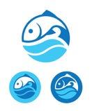 Στρογγυλό εικονίδιο ψαριών Στοκ εικόνες με δικαίωμα ελεύθερης χρήσης