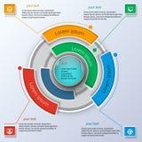 Στρογγυλό επιχειρησιακό infographics Στοκ φωτογραφίες με δικαίωμα ελεύθερης χρήσης