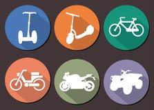 Στρογγυλό διανυσματικό moto εικονιδίων Στοκ εικόνες με δικαίωμα ελεύθερης χρήσης