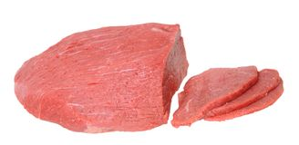 Στρογγυλό κρέας ματιών βόειου κρέατος Στοκ Εικόνες