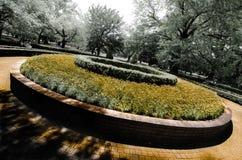 Στρογγυλό κρεβάτι λουλουδιών στοκ φωτογραφία με δικαίωμα ελεύθερης χρήσης