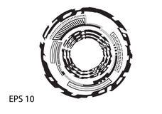 Στρογγυλό λογότυπο στο άσπρο υπόβαθρο Στοκ Εικόνα