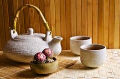 Στρογγυλό πράσινο τσάι Στοκ Εικόνες