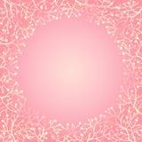 Στρογγυλό πλαίσιο με τα μούρα και τους κλάδους Στοκ εικόνα με δικαίωμα ελεύθερης χρήσης