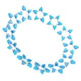 Στρογγυλό πλαίσιο φιαγμένο από αστέρια Στοκ φωτογραφίες με δικαίωμα ελεύθερης χρήσης