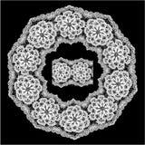 Στρογγυλό πλαίσιο - floral διακόσμηση δαντελλών Στοκ Εικόνα