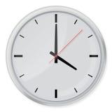 Στρογγυλό ρολόι τοίχων με τις σκιές στο άσπρο υπόβαθρο Στοκ Φωτογραφία
