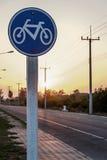 Στρογγυλό σημάδι παρόδων ποδηλάτων Στοκ Εικόνες