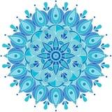 Στρογγυλό σχέδιο, snowflake Στοκ Φωτογραφία