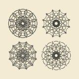 Στρογγυλό σύνολο διακοσμήσεων Κύκλος και floral διακόσμηση Στοκ Φωτογραφία