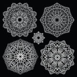 Στρογγυλό σύνολο σχεδίων δαντελλών mandala Στοκ φωτογραφίες με δικαίωμα ελεύθερης χρήσης
