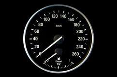 Στρογγυλό ταχύμετρο Στοκ Φωτογραφία