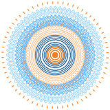 Στρογγυλό υπόβαθρο πλαισίων vektor διακοσμητικό Στοκ Εικόνες