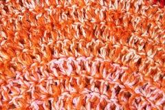 Στρογγυλό χειροποίητο στενό επάνω υπόβαθρο κουβερτών Πλεκτός υφαντικός τάπητας π Στοκ φωτογραφία με δικαίωμα ελεύθερης χρήσης