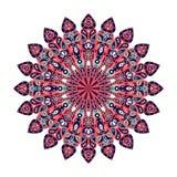 Στρογγυλό Mandala Αραβική, ινδική, ισλαμική, οθωμανική διακόσμηση Στοκ Εικόνα