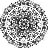 Στρογγυλό Mandala Στοκ εικόνα με δικαίωμα ελεύθερης χρήσης