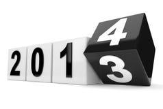Στροφές έτους 2013 στο έτος 2014 Στοκ Εικόνα